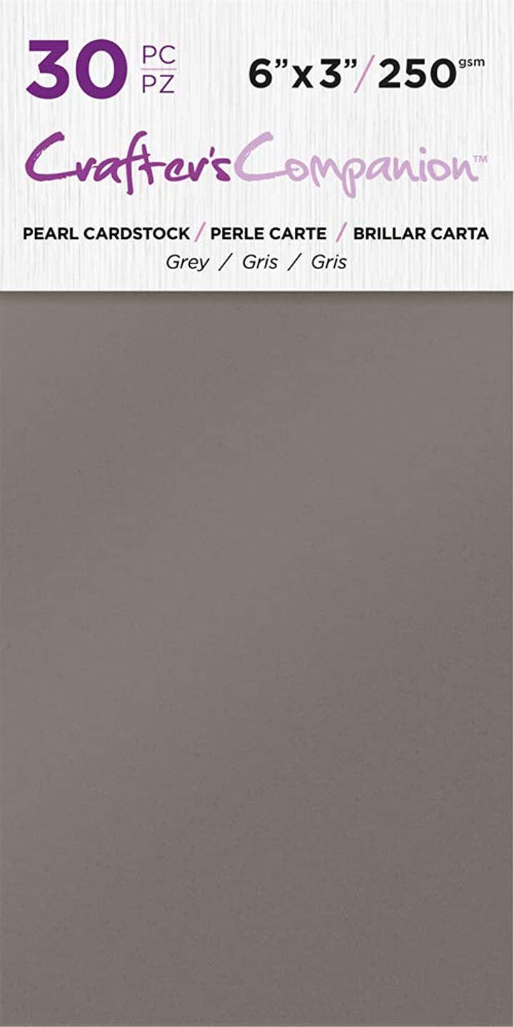 Crafter's Companion CC-PAD-PRL-Grey 6x3 Luxury Pack (30 Sheets) Cardstock