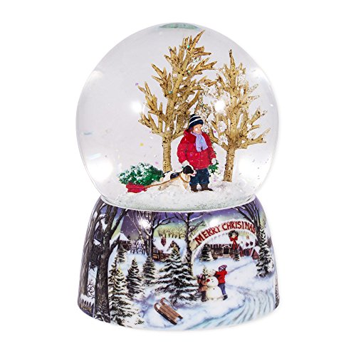 Roman Merry Xmas Snowy Woodland Scene Music Snow ...