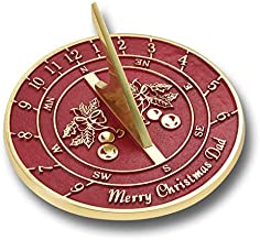 Happy Christmas Dad Sundial Ornament Gift for Father. Cool New Present Idea from Son, Daughter, Kids Or The Dog. Xmas Day Stocking Filler Gifts for Him. Handmade in England by The Metal Foundry