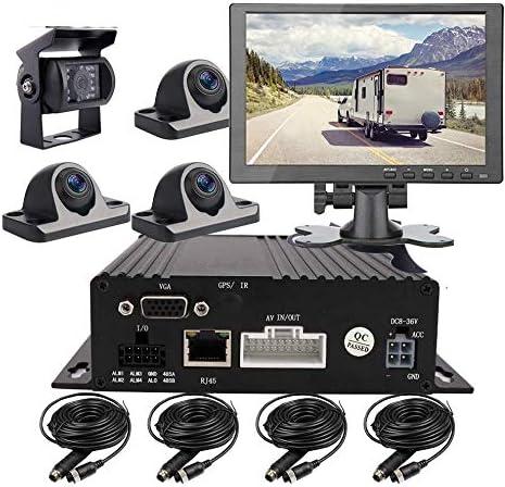 JOINLGO 4 CH 1080P AHD Mobile Vehicle Car DVR MDVR Video Audio Recorder Kit with 4pcs Mini Camera product image