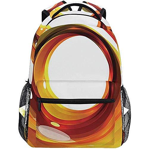 Precious Meet Vortice Arancione con elementi di Design Ombre Sfera vivida Figura sinuosa Personalizzata Leggera Grande capacità