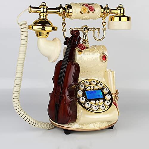 TeléFono Fijo Vintage de Bronce,TeléFono de Escritorio para Oficina en Casa,Decoracion casa Vintage,Puede Volver a Marcar y Rotar Diales,Para la DecoracióN del Bar Ca(Color:Manos libres de bronce)