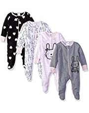 GERBER Baby Girls' 4-Pack Sleep 'N Play