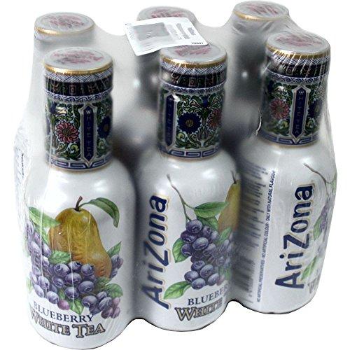 Arizona Ice Tea Blueberry White 6 x 0,5l PET-Flasche (weißer Eistee Blaubeere)