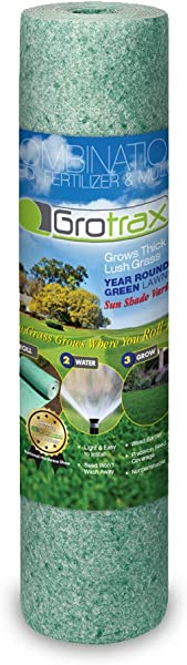 Grotrax Big Roll Year Round Green Grass Seed Mixture Mat Roll 100 Square Feet