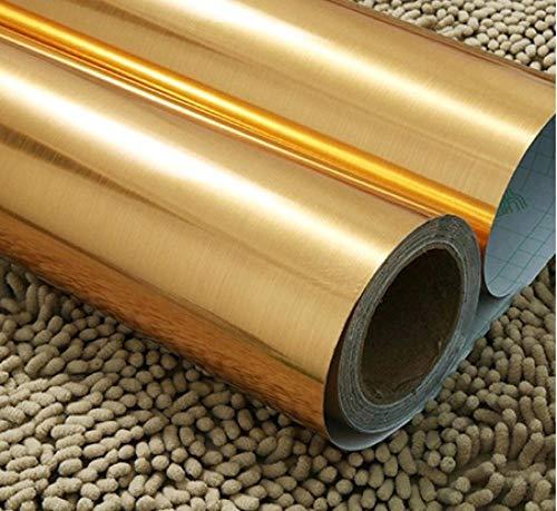 Hintergrundbild Silberbürste Vinyl selbstklebende Tapetengeräte wasserdichte Möbel PVC Wandaufkleber Küche Geschirrspüler Kontaktpapier-B_20X0.4M