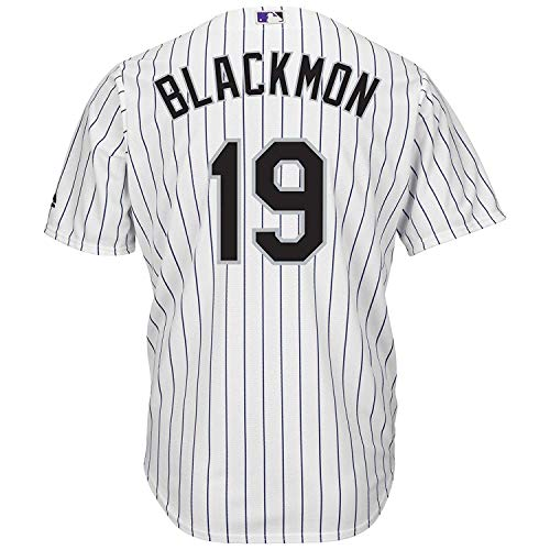 Outerstuff Charlie Blackmon Colorado Rockies White Youth 8-20 Cool Base Home Replica Jersey (Medium 10/12)