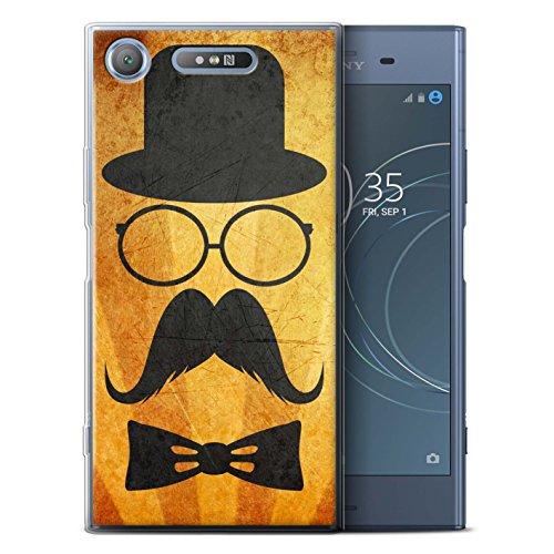 Stuff4 Var voor Sony Xperia Retro Moustache Sony Xperia XZ1 Stuur/Bril