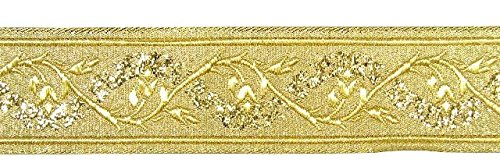 10m Brokat Borte Webband 35mm breit Farbe: Lurex-Gold von 1A-Kurzwaren 35094-go