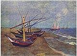 Fishing Boats on The Beach at Saintes Maries de la Mer Kinder Erwachsenen Lernspielzeug Puzzle Classic Holz 300/500/1000 Blatt Dekompression Intelligenz entwickeln Der Film Anime Spiel
