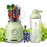 Smoothie Blender Personal Blender, Chic Now Portable Smoothie Maker for Juice Shakes and Smoothie with 6 Sharp Blades, Travel Cup and Lid, Green (Renewed)
