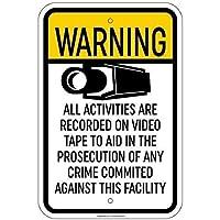 ビデオ検察犯罪屋外および屋内看板壁装飾12x8インチに記録された165グレートティンサインアルミニウム