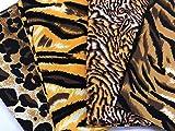 Amornphan 4 Stück Tiger Leopard Tier Muster Gedruckt