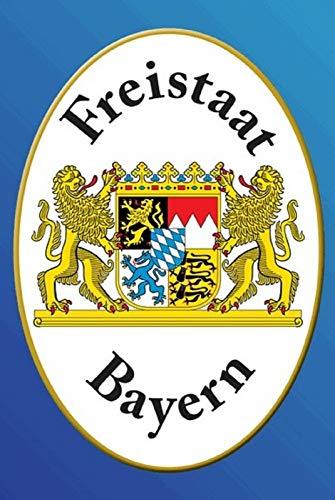 FS Freistaat Bayern Wappen blaues Blechschild Schild gewölbt Metal Sign 20 x 30 cm