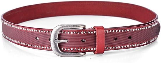 Leopard Print Women Leather Belt Adjustable Skinny Waist Belt for Jeans Pants Dresses Plus Size Casual (Color : Pink)