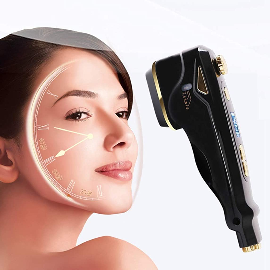 晴れ悪因子ルールスキンフェイシャルマシン - ポータブルハンドヘルド高周波スキンセラピーマシンにきび肌のしわを引き締めダークサークルを軽減します腫れぼったい目の美容ツール