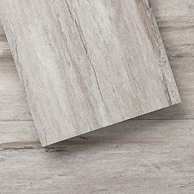 Luxury Vinyl Floor Tiles by Lucida USA   Peel & Stick Adhesive Flooring for DIY Installation   36 Wood-Look Planks   BaseCore   54 Sq. Feet