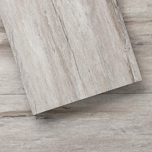 LUCiDA SURFACES Luxury Vinyl Flooring Tiles-Peel and Stick Floor Tile for DIY Installation-36 Wood-Look Planks-Winter-BaseCore-54 Sq. Feet