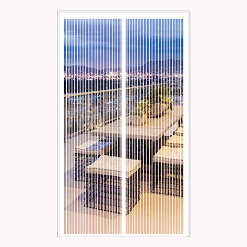 ERPENG Anti-Mücken-Vorhang 85x190cm Magnetverschluss faltbar Fliegenschutzvorhang Vorhang einfach zu montieren Ohne Bohren für Die Balkontür, Kellertür Und Terrassentür,...