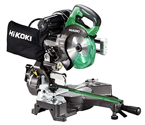 HiKOKI(ハイコーキ) 旧日立工機 卓上スライド丸のこ AC100V 刃径165mm 両傾斜 最大切断幅八寸(245mm) 内装材切断 レーザーマーカー・LEDライト内蔵 チップソー付き C6RSHD