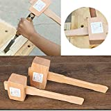 DoneCenter(TM) 1PC Home 100MM Woodworking Wooden Wood Mallet Hammer Tools Nail Hammer Knocking