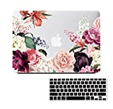 Lapac Compatible with MacBook Pro 15.4' Retina Case Floral, 2012-2015 Released A1398 Mac Pro 15 inch Case Hard Shell Case for Mac Pro A1398 with Retina Display (NO CD-ROM Drive), Roses Pink Flower