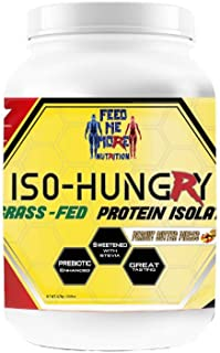 ISO-Hungry Natural Grass Fed Whey Protein Powder (Peanut Butter Pieces, 2 Lbs)