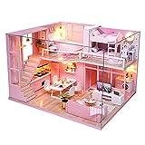 Blanket Caja de música LED, casa de muñecas de Madera en Miniatura, Modelo de casa de muñecas DIY, Kits de Manualidades para Habitaciones pequeñas, como Regalo de cumpleaños y Navidad