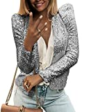 Onsoyours Primavera e Autunno Donne Blazers Casual Manica Lunga Coat Tops Outerwear Cardig...