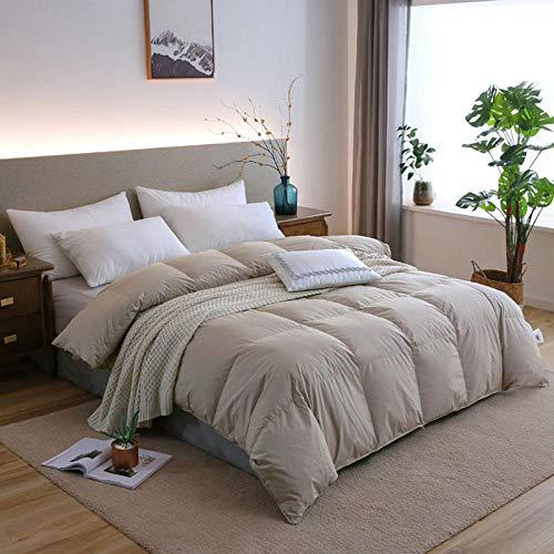 Hahaemall duvet king size Winter duvet 95% White Goose Quilt Duvets Winter Comforters 100% Cotton cover/King Queen Twin Full Size duvet-E_150x200cm-2500g