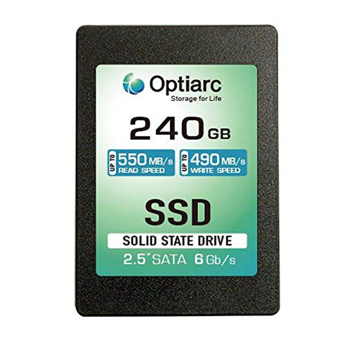 脅迫テスト束Optiarc SSD 240GB 内蔵ソリッドステートドライブ - SATA III 6 Gb/s 2.5インチ OPT240S325-R