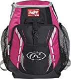 Rawlings R400 Youth Players Team Equipment Backpack, Neon Pink