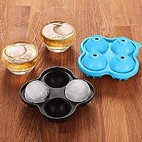 ossky set di 2 stampi per ghiaccio in silicone, 8 stampi per ghiaccio sferici, ideale per whisky, cocktail e altre bevande, materiale di alta qualità per alimenti, riutilizzabile e senza bpa
