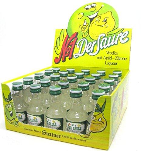 Stettner Der Saure Nummer 1, 25 x 0,02l, Apfel-Zitrone+Wodka