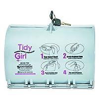 Tidy Girl TGUDPV2 Tidy Girl Plastic Feminine Hygiene Disposal Bag Dispenser, Gray