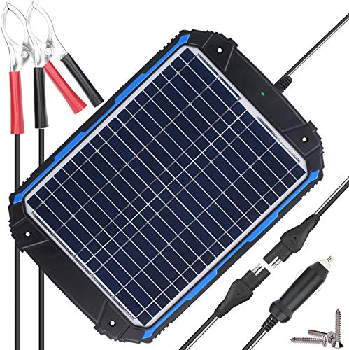 SUNER POWER Upgraded 12V Waterproof Solar Battery Charger & Maintainer Pro