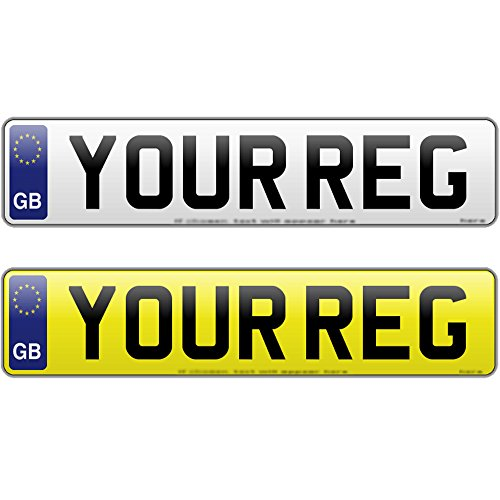 PAIR GB NUMBER PLATES WITH GB BADGE REGISTRATION PLATE 520mm x 111mm