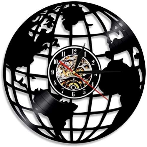 ZYBBYW Wanduhr Home Decoration Uhr Erde Wanduhr Globe Map Dekoration Vinyl Wanduhr Erde Wanduhr Weltkarte Interieur Moderne Uhr Einweihungsparty Geschenk