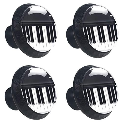 YATELI Piano Vintage Ton [4 Stuck] Küchenknöpfe - Türknopf Knauf für Schrank, Schubladenknopf, Türknäufe, Möbelknopf
