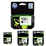 HP 932-933XL Black/Cyan/Magenta/Yellow High Yield Ink Cartridge Bundle