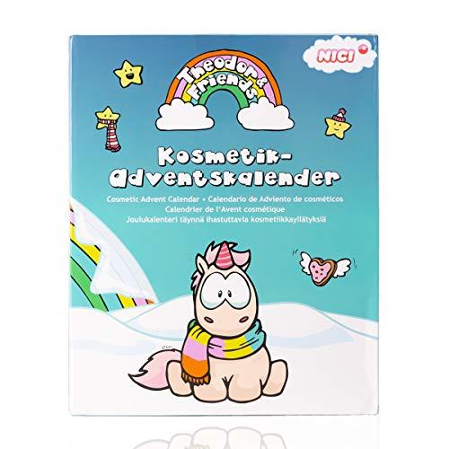 Accentra Einhorn Adventskalender Beauty für Mädchen & Damen, Schminke, Nagelpflege- Set & Must Have Unicorn Sachen, super Geschenk-Idee zur Adventszeit
