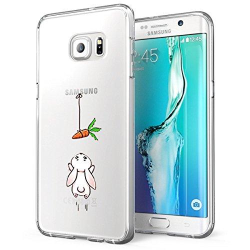 Samsung Galaxy S6 Edge Plus Funda TPU Natura Cute Animal Cover Samsung Galaxy S6 Edge Plus Popolares Case Anti-Scratch Gel Silicona Funda para Samsung Galaxy S6 Edge Plus Carota M