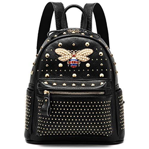 qwerasdf señoras mini mochila de cuero multibolsillo mochil