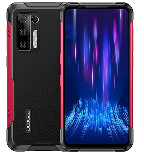 DOOGEE S97 PRO Rugged Smartphone con Telemetro Laser, Helio G95 8GB+128GB, Android 11 IP68 Impermeabile Cellulari Robust, Batteria 8500mAh, Fotocamera Quad 48MP, Ricarica Wireless NFC DUAL SIM Rosso