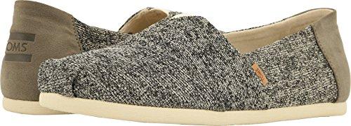 Toms Mujeres Zapato de Piso, Birch Technical Knit, Talla 9