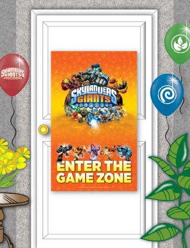 1 Tür-Poster * SKYLANDERS GIANTS * für Party und Geburtstag // Größe 70x120cm // Kinder Geburtstag Party Fete Set Jungen Monster Roboter Doorbanner Poster Banner