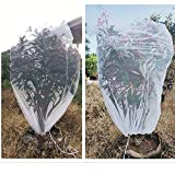 """Insect Bird Barrier Netting Mesh with Drawstring 2PCS 65X39"""" Large Garden Bug Plant Cover Protection Cover Nets Barrier Protective Net Bag for Protecting Vegetable Plant Flower Fruit mesh Cover Bags"""