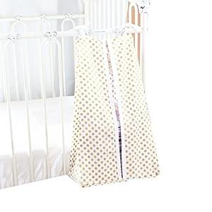 Metallic Gold Dots Diaper Stacker (White)