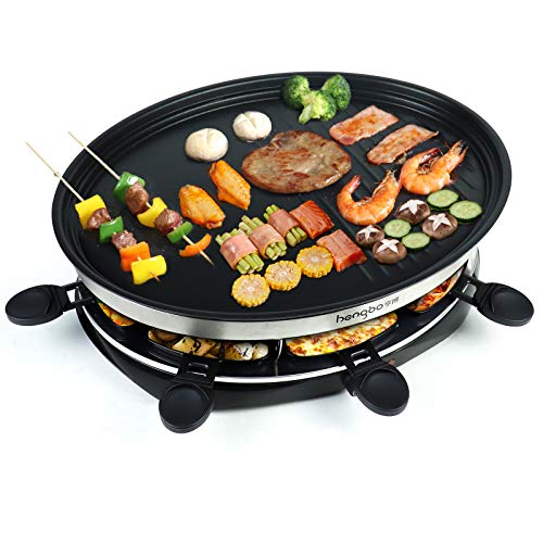 Raclette Grill for 8 People | Indoor Raclette Machine Party Grill with...