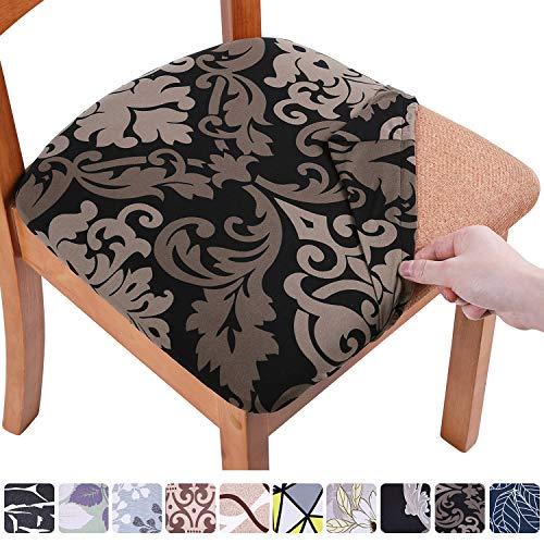 Homaxy Stretch Stuhlbezug Sitzfläche Weich Sitzbezug Stuhl Abwaschbar sitzbezüge für Esszimmerstühle Abnehmbar Stuhlhussen für Esszimmer- 6er Set, Barock
